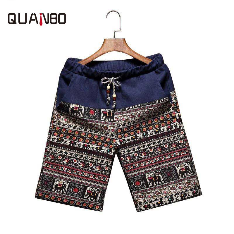 Mens Printing Brand  Beach Shorts 2018 Summer New Thin Section Breathable Comfort Casual Men's Linen Shorts Large Size M-5XL