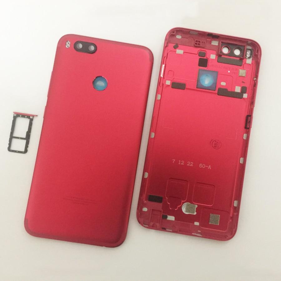Image 3 - Original For Xiaomi Mi A1 5X MiA1 Mi5X Battery Cover Housing Back Door Housing + fingerprint sensor flex cable + +Sim TrayMobile Phone Housings & Frames   -