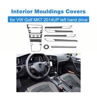 Тюнинг автомобилей углеродное волокно Авто внутренние формовки отделкой охватывает подходят для VW Golf MK7 2014UP левый руль