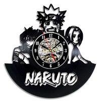 Naruto Vinyl Record Klok Home Decor-in Wandklokken van Huis & Tuin op