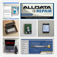 alldata software all data v10.53 and mitchell on demand 5 hdd 1tb 2in1 with laptop z485 used ram 4g diagnostic data