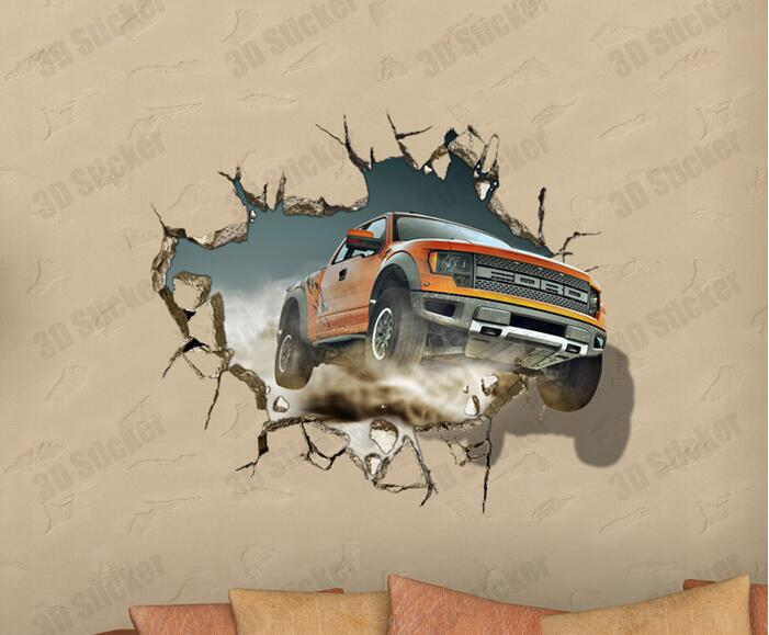3D Wall Painting aliexpress : buy 3d wall sticker suv car painting kid's room