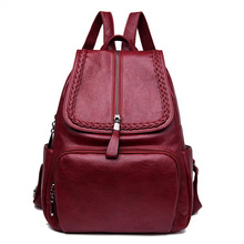 women fashion leather backpack ladies rucksack women school student shoulder bags for girls female black 2018 backpacks bagpack все цены