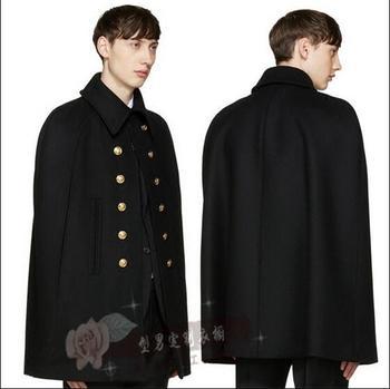 S-5XL!!The new autumn/winter city boy coat loose cloak cape overcoat woolen cloth long cloth in the thick coat