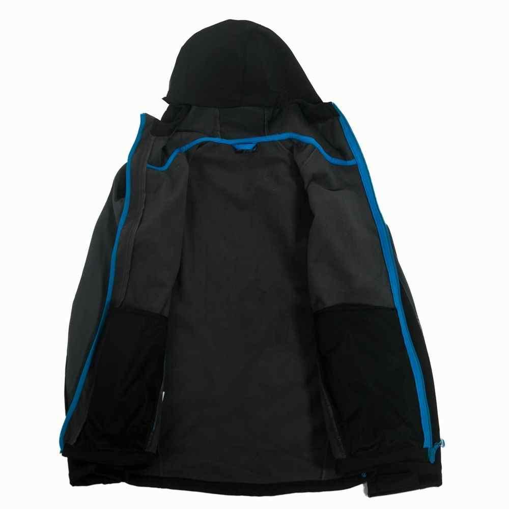 2016 брендовая флисовая куртка зимнее мужское теплое пальто с капюшоном водонепроницаемая ветрозащитная теплая высококачественная одежда Большие размеры s-xxl