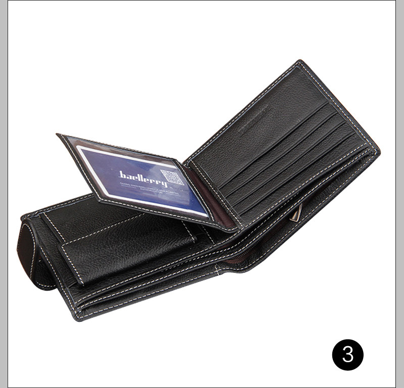 Topdudes.com - Designer's Genuine Leather Luxury Short Wallet with Card Holder, Clutch Coin Pocket