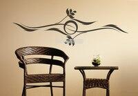 새로운 디자인 창조적 인 벽 태양 파도 비닐 벽 스티커 홈 장식 거실 TV 배경 장식 예술 벽 문신 벽화 LA351