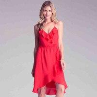 Mulheres Vestidos de Chiffon Vestido de Verão Slim Fit Sexy Praça Vermelha Fêmea Moda Casual Mulheres Do Joelho-Comprimento Vestido de Festa Ma169