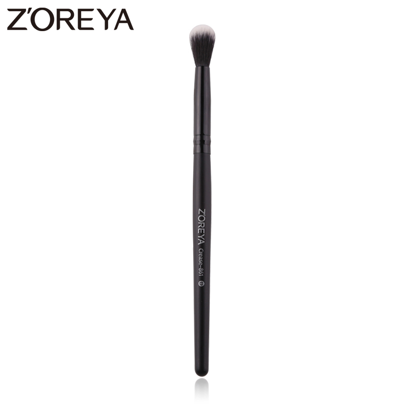 Zoreya Brand Black Crease Make Up Brushes Soft Synthetic Hair Portable Eye Makeup Tools Travel Cosmetic Brush For Makeup