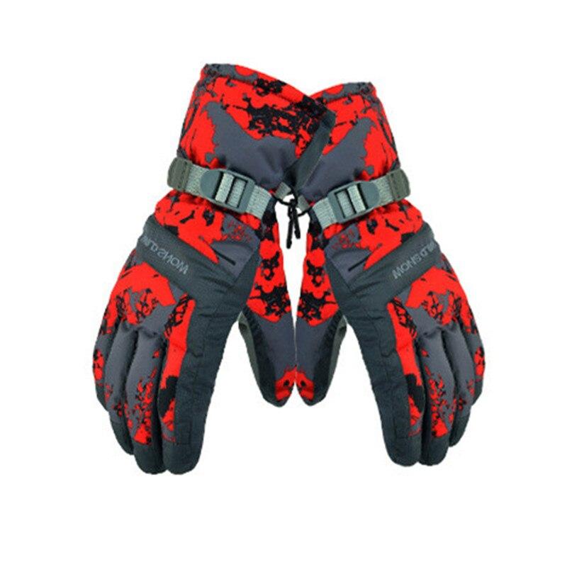 2018 Winte Waterproof Ski Gloves Men Women Warm Skiing Snowboard Gloves Snowmobile Motorcycle Riding Winter Outdoor Snow