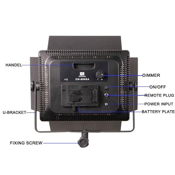 Nanguang CN-900SA 54W פלסטיק נייד אור LED וידאו לוחות LED סטודיו אור עם V הר סוללה צלחת סרט טלוויזיה