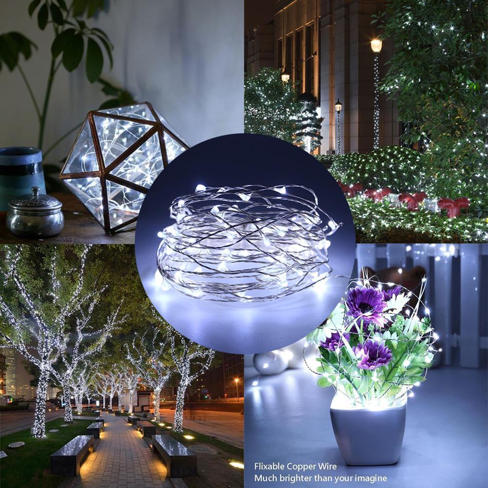 2 10m copper wire led string lights night light holiday. Black Bedroom Furniture Sets. Home Design Ideas
