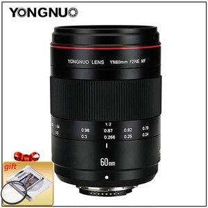 Image 1 - YONGNUO Linsen Macro Objektiv YN60mm F2 MF 0,234 m Macro Objektiv 60mm für Canon EOS 70D 5DMK II 5DIII 600D 700D DSLR Nikon F2NE Yongnuo