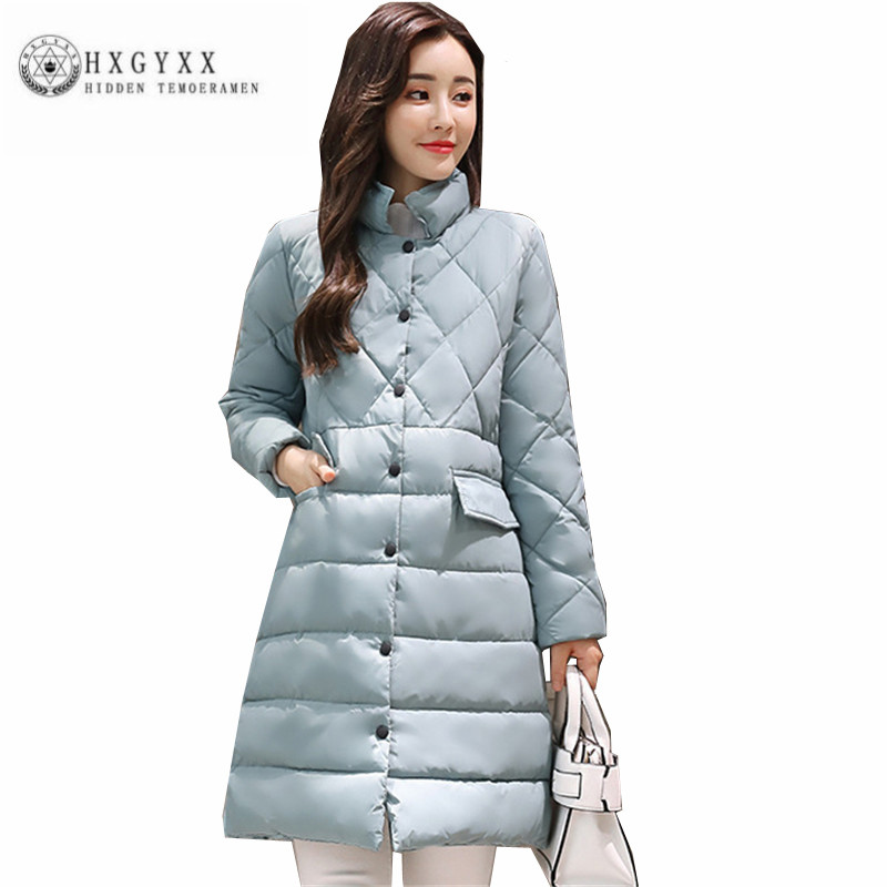 New Winter Women Cotton Coat Fashion simple Pure color Slim Outerwear Han edition Long sleeve stand collar Female Parka ZX0156 concept of vortex female student individuality creative watch han edition contracted fashion female table
