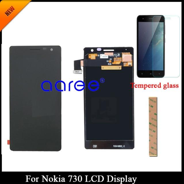 100% נבדק כיתה AAA LCD תצוגה עבור נוקיה 730 lcd מסך עבור Nokia 730 735 תצוגת LCD מסך מגע Digitizer הרכבה