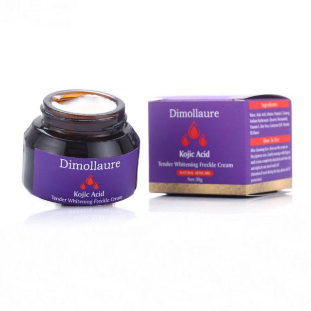 Dimollaure kojic acid whitening cream Retinol Vitamin peptides Argireline serum Remove Freckle melasma pigment Melanin dark Spot 6