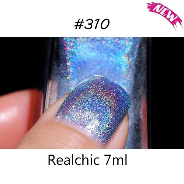 10 colors Realchic Brand 7ml Holo luminous Glitter Gel Nail Polish Gel Varnish Nail Art holographic Nail Polish