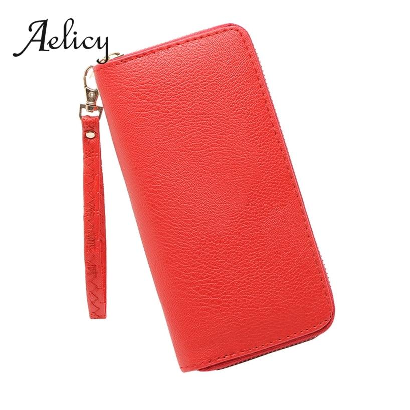 Aelicy Money Purse Long Wallet Phone-Pocket Clutch Business Bi-Fold Zipper Multifunction