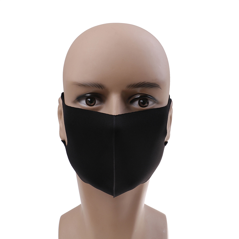 1Pcs Black Kpop Mouth Mask Breathable Unisex Sponge Face Mask Reusable Anti Pollution Face Shield Wind Proof Mouth Cover in Masks from Beauty Health