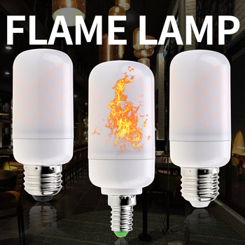 цена на E27 LED Flame Lights SMD 2835 Corn Bulb LED E14 Flame Effect Fire Light Bulbs E26 Fire Imitation Decoration LED Lamp AC 85-265V