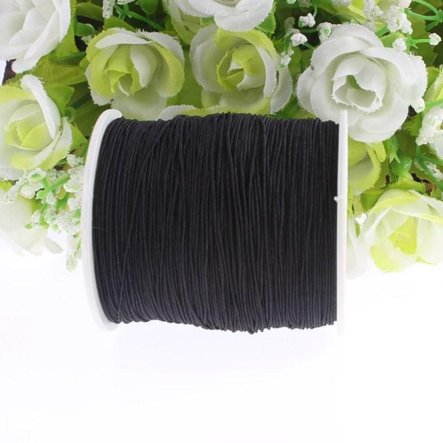Black Elastic Thread Polyester Sewing Machine Beading Thread DIY Best Elastic Thread Sewing Machine