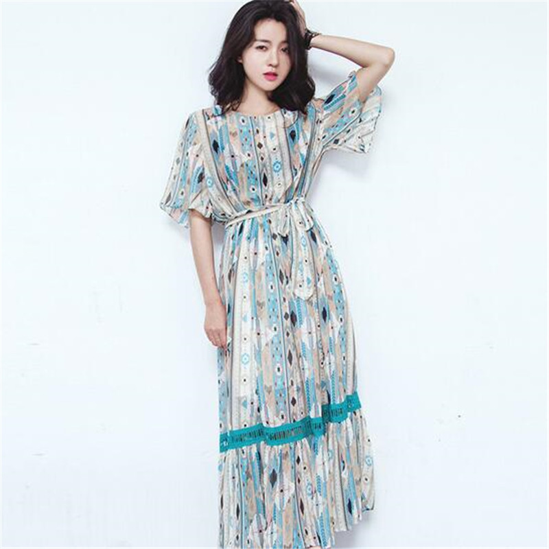 Latest 2016 Summer font b Women b font font b Fashion b font Chiffon Dress Casual