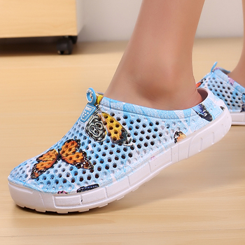 2018 womens casual Clogs Breathable beach sandals valentine slippers summer slip on women flip flops shoes home shoes for women 1