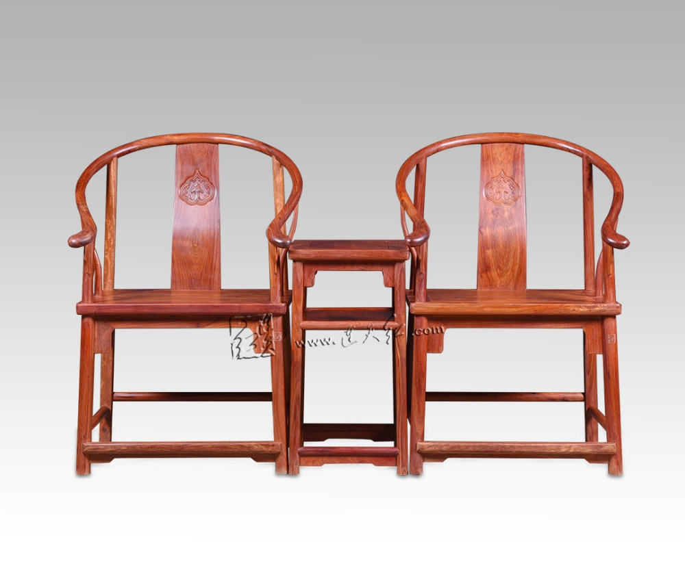 Chinese Court Classical Furniture Sets TWO RuYi Cloud Grain Armchair and ONE Small Tea Table Set Burma Rosewood Living Room Desk stools with chi design living room low console table burma rosewood chinese classical antique furniture solid wood square bench