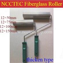 [12 мм Диаметр] Длина 50 75 100 150 мм Стекловолоконный ламинированный алюминиевый ролик с полосками | 0,48 ''Смола пузырьковый GRP работа