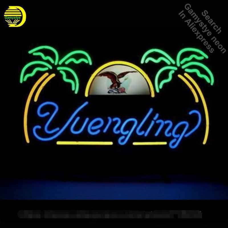 Yuengling Lager Eagle Neon Sign neon bulb Sign neon lights for Beer Bar Pub glass Tube Handcraft Lamps Iconic Sign store Display