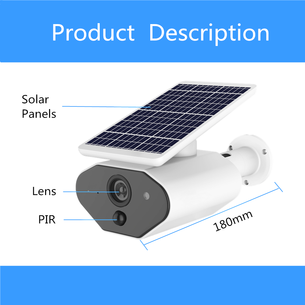 Image 5 - ZILNK Outdoor Security Camera 1080P HD Wire Free Solar Powered Battery WI FI IP Camera CCTV Surveillance Waterproof PIR TF Card-in Surveillance Cameras from Security & Protection
