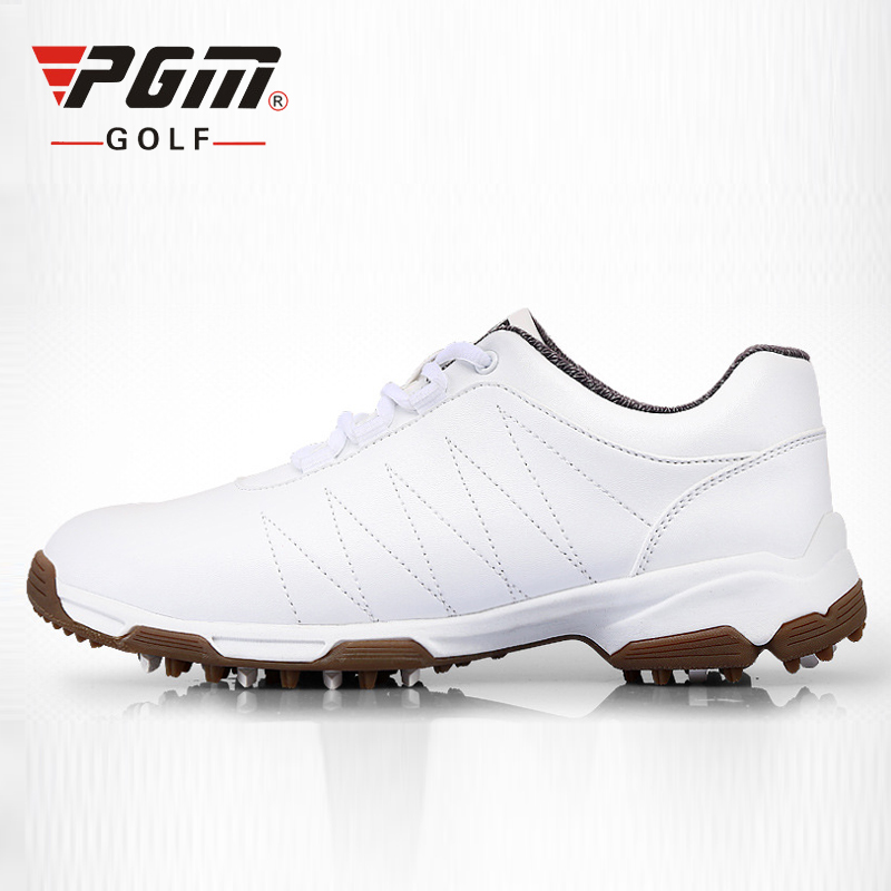 PGM Patent Design Golf Shoes Women's Slip-proof Shoes Nails Golf Sneakers Waterproof Breathable Antiskid Sports Shoes 35-39 pgm authentic golf shoes men waterproof anti skid high quality male sport sneakers breathable shoes