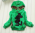 Autumn Fashion Cartoon Minnie Lace Children Wear Girls Coat Kids Clothing 2 Colour 2 Ways Style to Wear