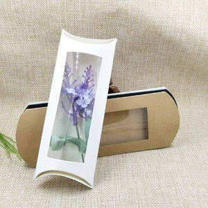 Image 5 - 50pcs per lot 16*7*2.4cm white/kraft/black pillow packing box candy favors/gifts/products display packing clear window box
