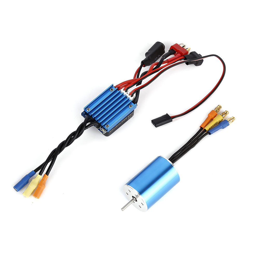 1/16 RC Cars Accessories 2435 4800KV 4P Sensorless Brushless Motor+<font><b>25A</b></font> <font><b>ESC</b></font> Kit For DIY Model Aircraft Spare Parts image