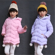 Children's clothing girls' jackets long section 2018 new thick winter coat cotton down jacket cotton children's jacket