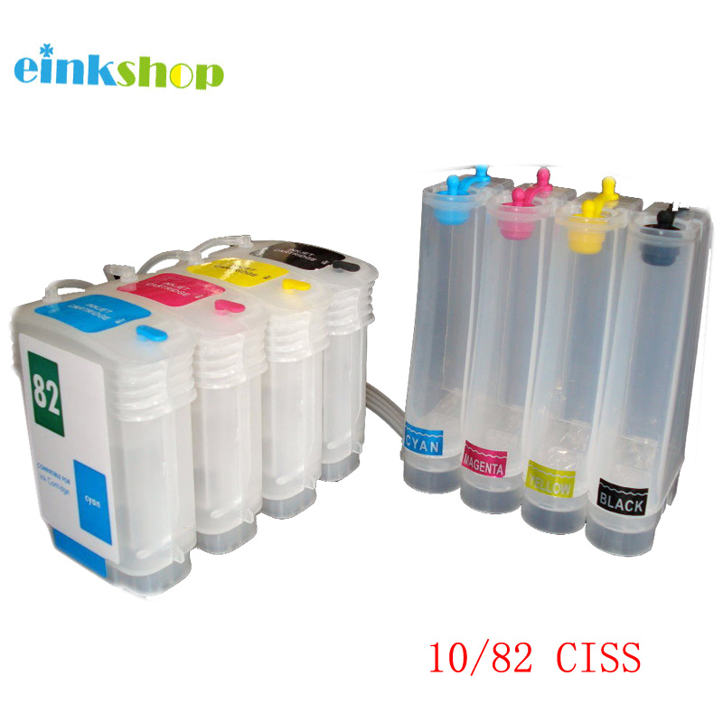 einkshop Brand for hp10 82 ciss ink system for HP DesignJet 500 500ps 800 800ps 815mfp Printer C4844 C4911 C4912 C4913 image