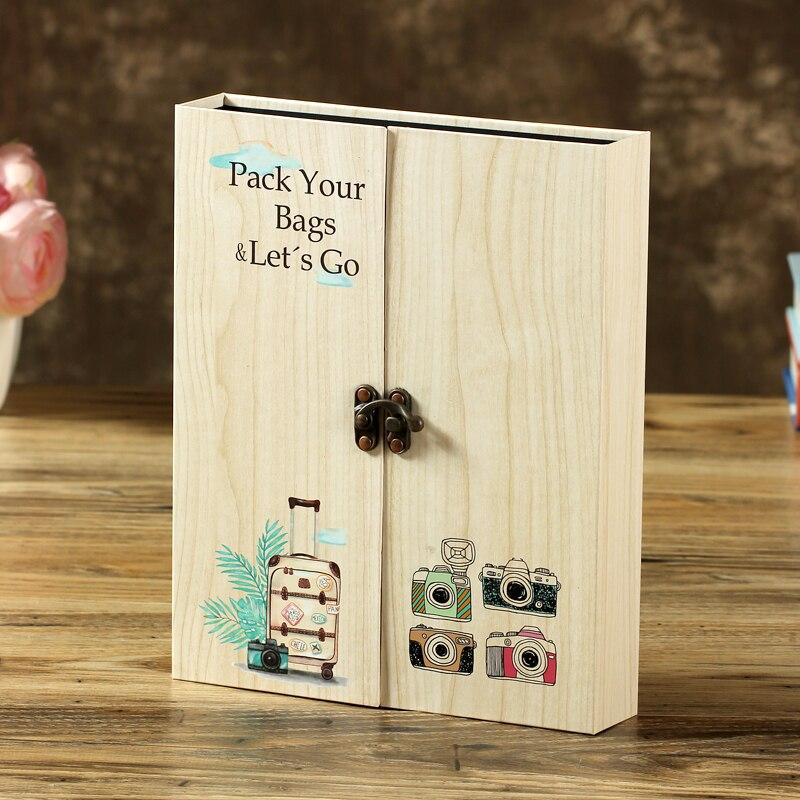 Alta qualidade de madeira 30 folhas de papel preto cartão tema amor casamento diy álbum feito à mão do vintage foto scrapbooking álbum