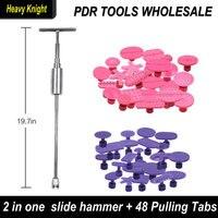Free Shipping 2 In 1 Slide Hammer Dent Puller Kit Car Paintless Dent Repair Hail Removal