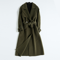 Winter Simple Long Full Sleeve Belt Alpaca Wool Camel Coats Womens Casaco Feminino Manteau Doudoune Femme