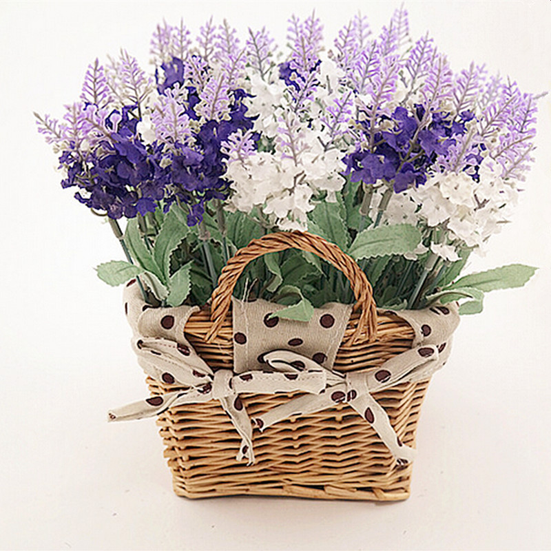 Artificial Flower Baskets Online : Buy wholesale lavender rose from china
