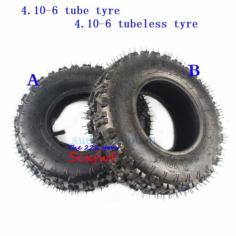2x 4.10 x 3.50-6 Tyre Tire Tube Kids Go Kart Mini Bike Lawnmower Scooter ATV 49c
