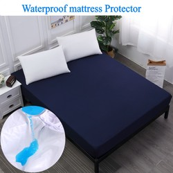 140x200cm Premium Waterproof Mattress Protector Against Dust Mites And Bacteria Fitted Sheet Mattress Cover 9 colors
