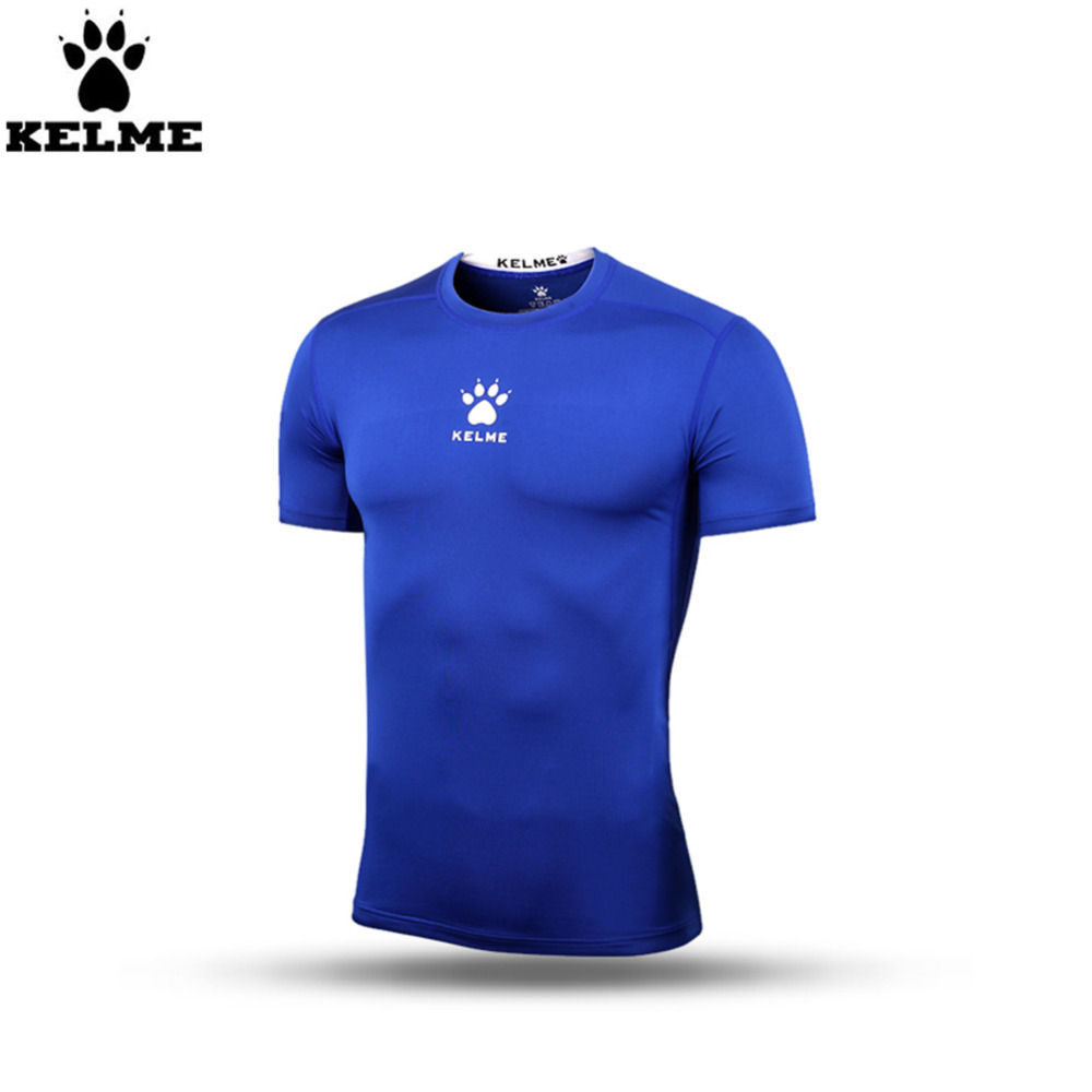 Kelme K15Z731 Men Blue Pro Thin Short Sleeve Straitjacket