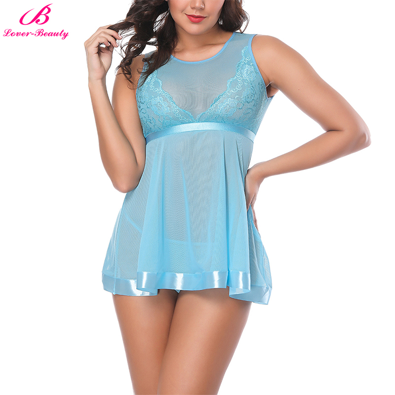 Lover Beauty Sexy Lingerie Lace Babydoll For Women Plus -3073