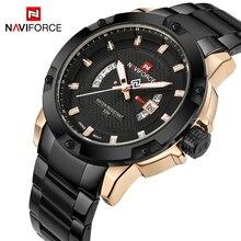 Новый Naviforce модные часы для мужчин Элитный бренд полный из нержавеющей стали с календарем спортивные Кварцевые Relogio Masculino