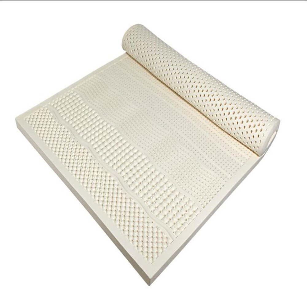 Image 2 - Natural Latex Mattress With Outer Inner Case Tatami Mat Cervical Vertebra Neck Protector 7 Zone Body Pressure Release MattressMattresses   -