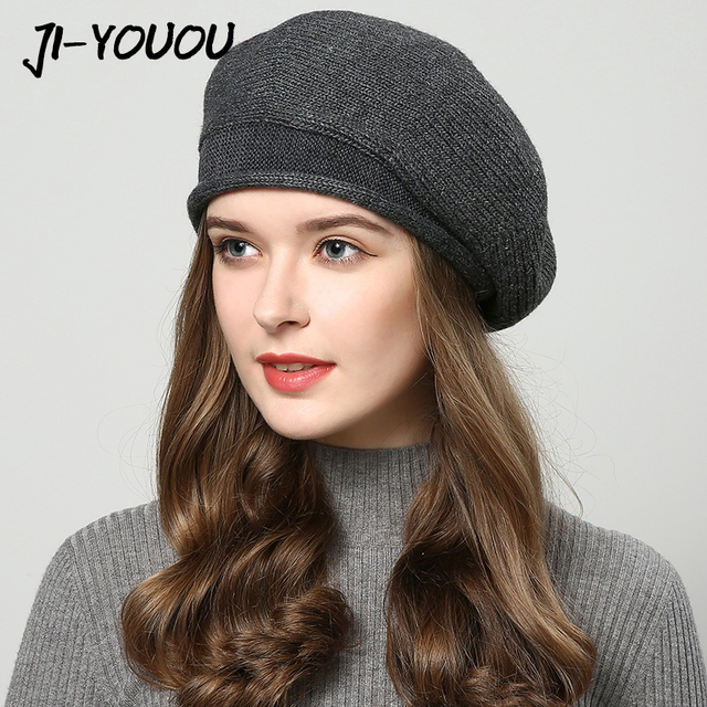 Winter hats for women knitted hat fashion Berets Women s autumn hat touca  inverno feminina 7 colors wholesale 4772964843a