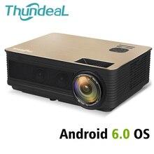 ThundeaL HD проектор TD86 4000 люмен Android 6,0 WiFi Bluetooth проектор (опционально) Full HD 1080 P светодиодный телевизор видео 3D проектор