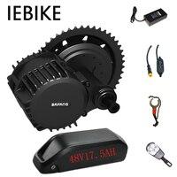 Bafang 48V 500W electric motor for bike electric bike conversion kit with 48V17.5AH ebike battery mid drive electric motor kit